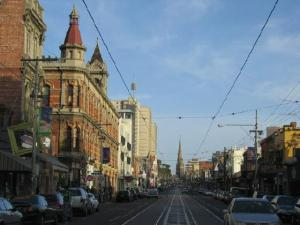 Brunswick Street - great cafes, restaurants. Very bohemian!
