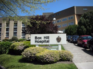 Box Hill Hospital in the outer suburbs of Melbourne, where my father was born, I was born and my son was also born!