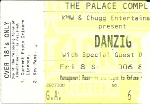 Danzig 2006 ticket