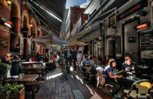 One of the hidden laneways in Melbourne