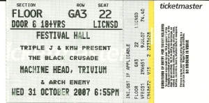 Machine Head 2007 ticket