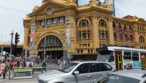 Flinders Street Train Station - photo Ian Cochrane