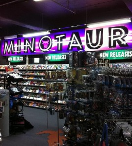 Minotaur - wonderful shop selling comics, movies, toys and memorabilia on pop culture.