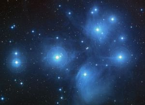 The Pleiades star cluster. Image Credit: NASA, ESA, AURA/Caltech, Palomar Observatory.