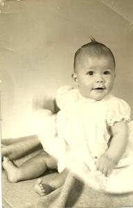 Me as a baby - hand blurred!