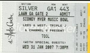 Tool 2007 ticket