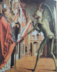 'Saint Augustine and the Devil' by Michael Pacher, circa 1483 (Similiar to the creatures I saw.)
