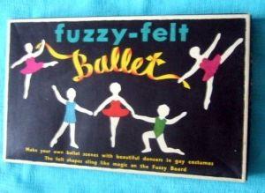 Fuzzy felt ballet